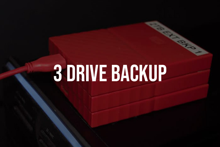 3 drive rotation backup systems